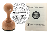 The best notary stamp bundle for the state of Ohio! Our stamp bundle includes: Custom Rubber Stamp and Notary Journal. Compliant with 2019 Notary laws, Secretary of Sate compliant, fast shipping