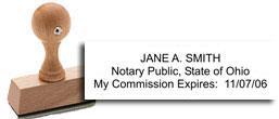 Ohio Notary Rubber Stamp