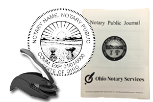 The best notary stamp bundle for the state of Ohio! Our stamp bundle includes: Custom Embosser and Notary Journal. Compliant with 2019 Notary laws, Secretary of Sate compliant, fast shipping