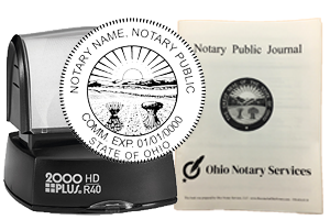 The best notary stamp bundle for the state of Ohio! Our stamp bundle includes: Custom Pre-Inked Stamp and Notary Journal. Compliant with 2019 Notary laws, Secretary of Sate compliant, fast shipping
