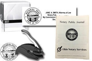 The best attorney notary stamp bundle for the state of Ohio! Our stamp bundle includes: State of OH Attorney/Notary Stamp & Seal Combo, Self-Inking (Printer 50), Embosser and Notary Journal. Compliant with 2019 Notary laws, Secretary of Sate compliant...