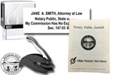 The best attorney notary stamp bundle for the state of Ohio! Our stamp bundle includes: Ohio Attorney Notary Stamp, Self-Inking (Printer 30), Embosser and Journal. Compliant with 2019 Notary laws, Secretary of Sate compliant, fast shipping