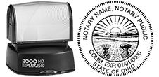 AB HDR40-C - Ohio Notary Custom Pre-inked Stamp