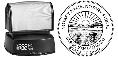 (HD-R40) Ohio Notary Custom Pre-inked Stamp