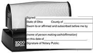 JUR-HD60 - Jurat Stamp Pre-Inked