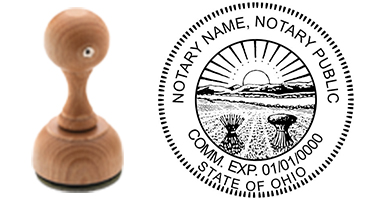Ohio Notary Custom Rubber Stamp