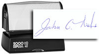 Large Signature Pre-Inking Stamp
