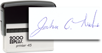 Large Signature Self-Inking Stamp