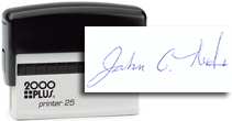 SIG-SML-SI - Small Signature Self-Inking Stamp
